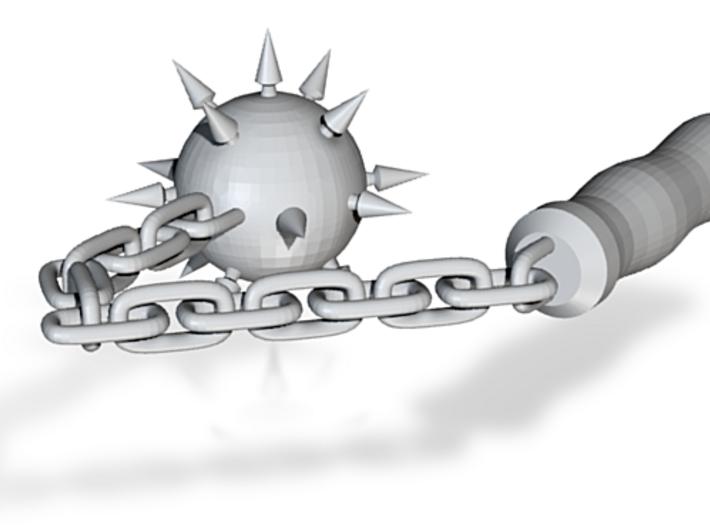Chain Mace 3d printed