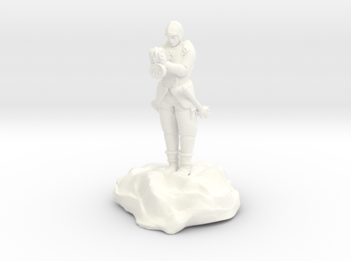 Catrell, the Human Cleric Hermit with Holy Symbol 3d printed