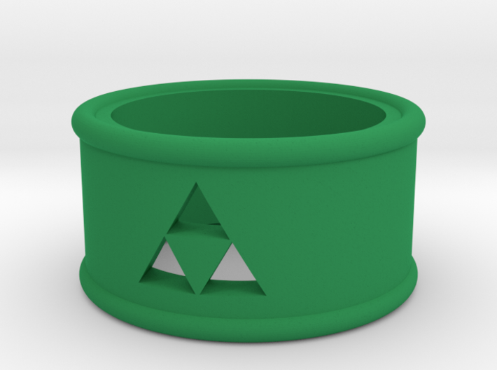 Triforce Cutout Band size 7 3d printed