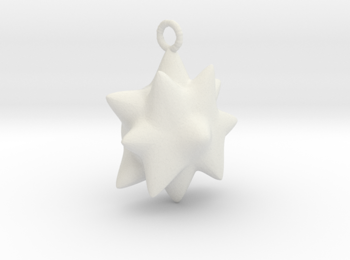 Chubby Star Pendant. 3d printed