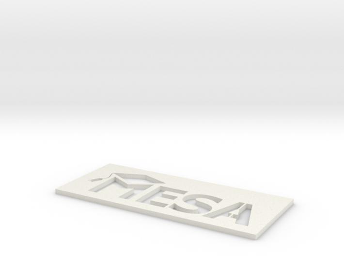MESA Logo Stencil Large 3d printed