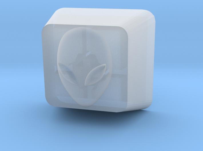 Cherry MX Alien Keycap 3d printed Custom 3D AlienCherry MX Keycap in Frosted Ultra Detail Plastic