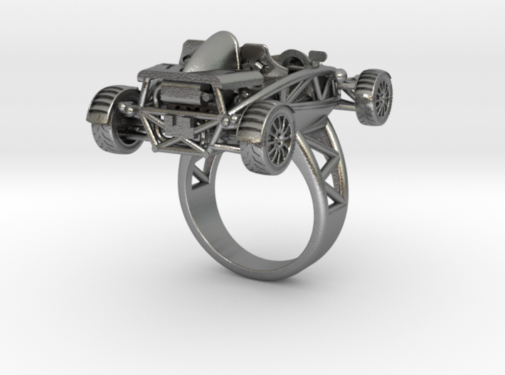 Atom Ring size 7 wo wings LHD 3d printed