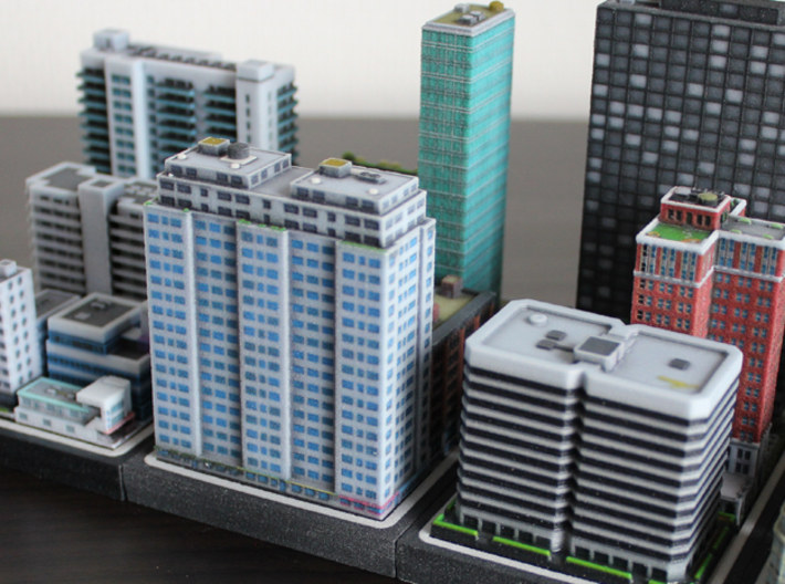New York Set 1 Residential Building 2 x 4 3d printed