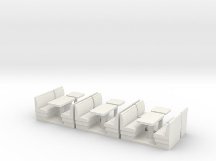 S Scale Resturant Booths X6 3d printed