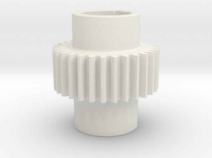 Gear Mn=2 Z=30 Pressure Angle = 20° with keyway 3d printed