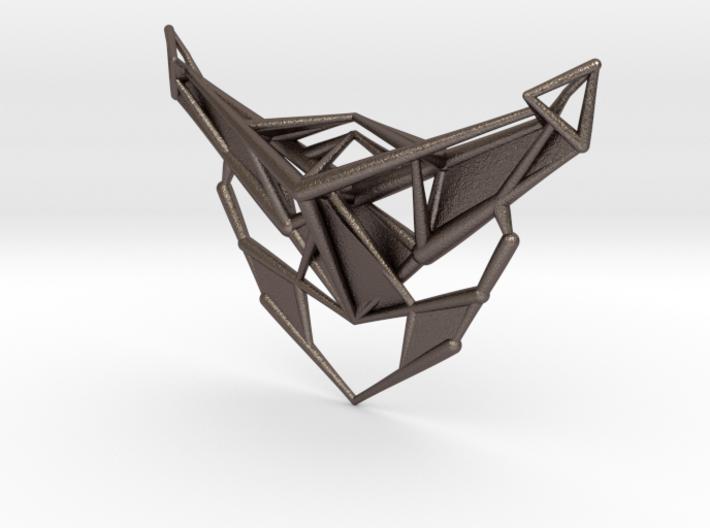 Angular Pendant 3d printed