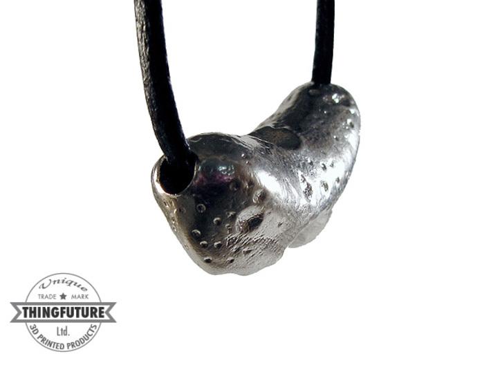 Eros asteroid pendant 3d printed Raw Silver print