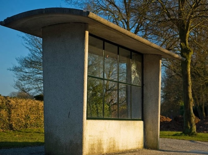 5 Old Style Dutch Concrete Bus-stops (n-scale) 3d printed