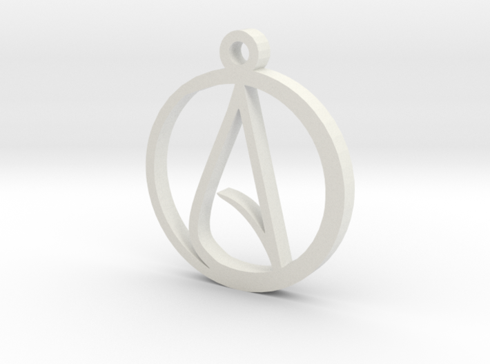Atheist pendant large 8e8yh6el8 by bodacious3d atheist pendant large 3d printed aloadofball Gallery