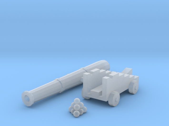 Cannon and Balls (n-scale) 3d printed