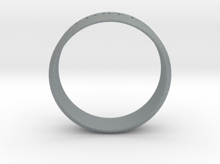 Ring Let Love Last Simple (size 6) 3d printed
