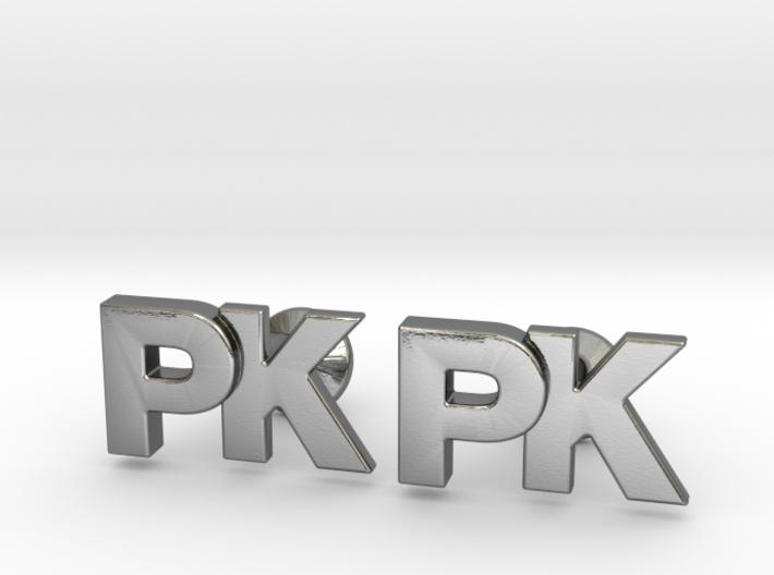 Monogram Cufflinks PK 3d printed