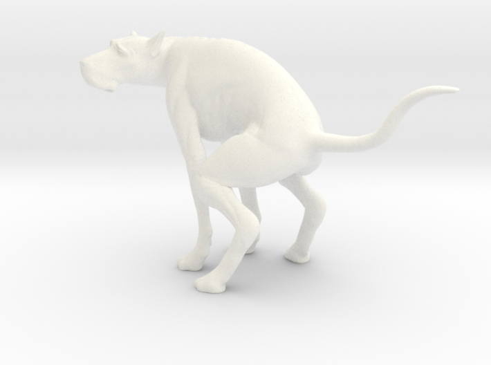 The Elegant Dog (5.7in - 15cm long) 3d printed