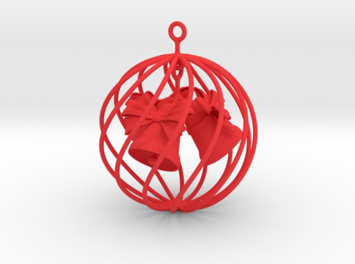 "4"" Christmas globe bells 3d printed"