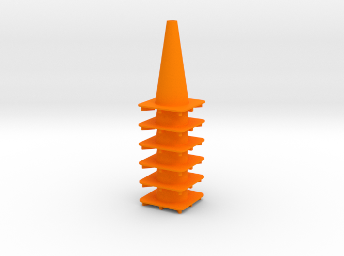 "18"" traffic cone 1/12th (6) 3d printed"