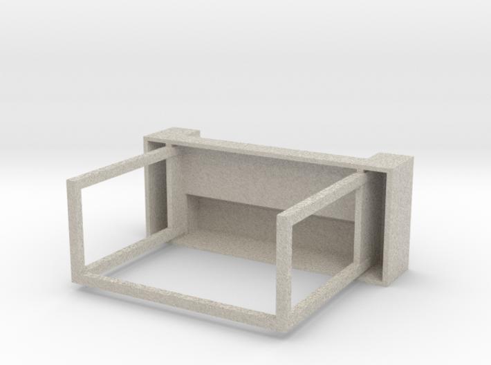 "Space 1999 Moonbase Desk (Mego 8"" Scale) 3d printed"