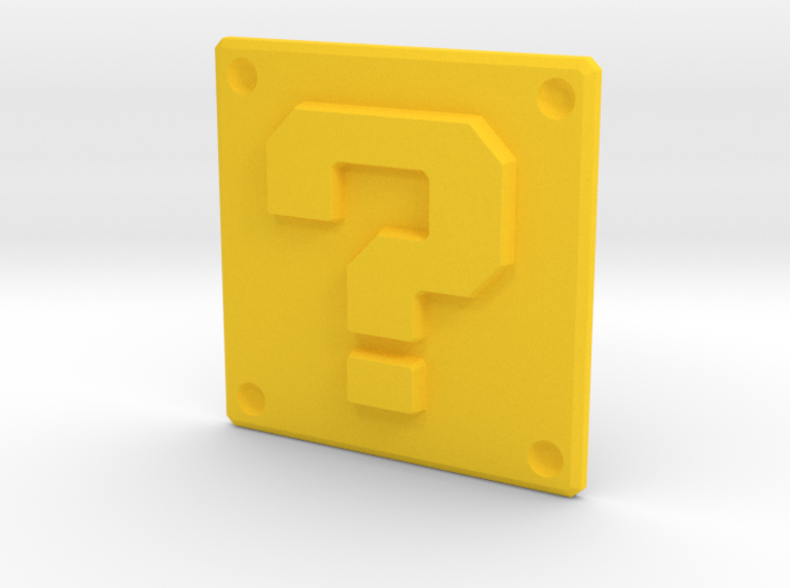 Question mark panel 3d printed