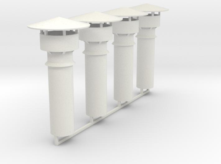 Cheminées de remise / schoorstenen van stelplaats 3d printed