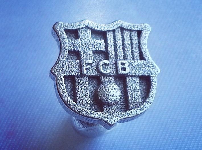 FC BARCELONA cufflinks (Steel) 3d printed Watch the video below!