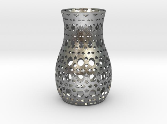 Tealight Sleeve Geometric - Small 3d printed