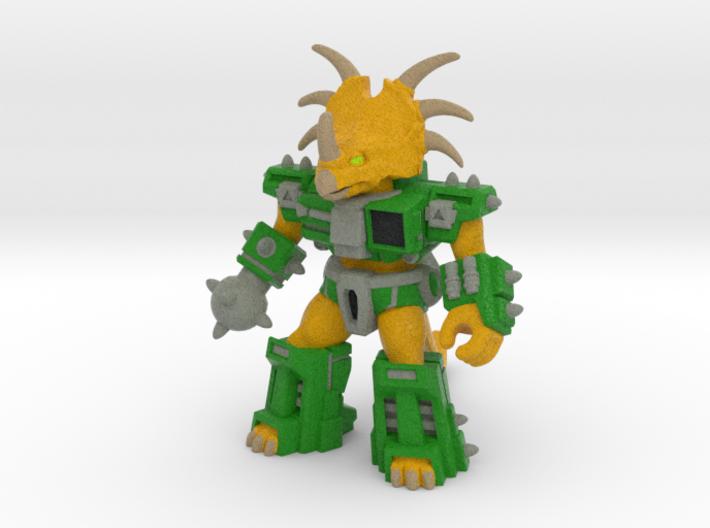Stalwart Styracosaur (Colored Sandstone) 3d printed