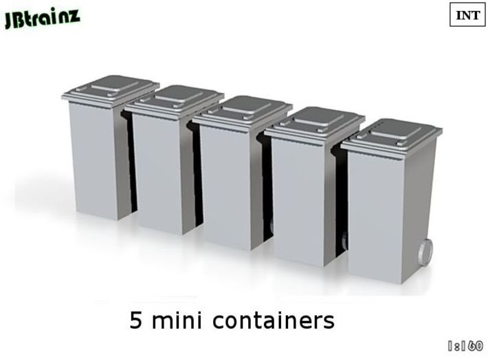 5 Minicontainers (n-scale) 3d printed