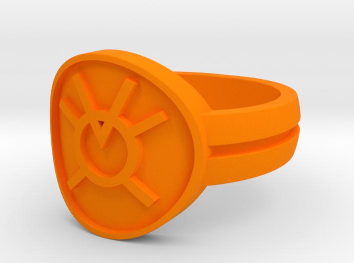 Orange Avarice Double Banded Sz 10 3d printed