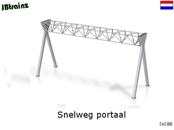 Dutch Style Highway Portal (n-scale) 3d printed