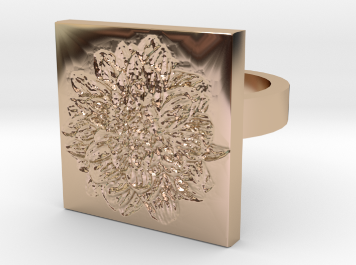 Dahlia Ring 3d printed