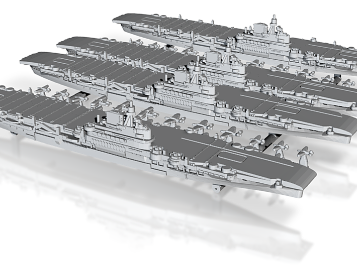 1/2400 UK CV Illustrious[1940](x4) 3d printed