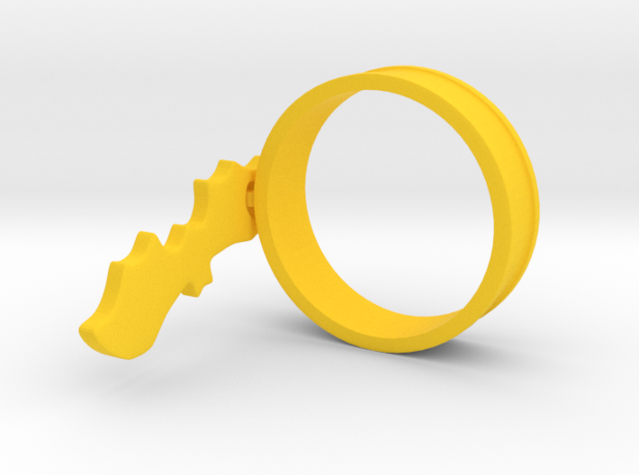 Bat Charm Ring 3d printed