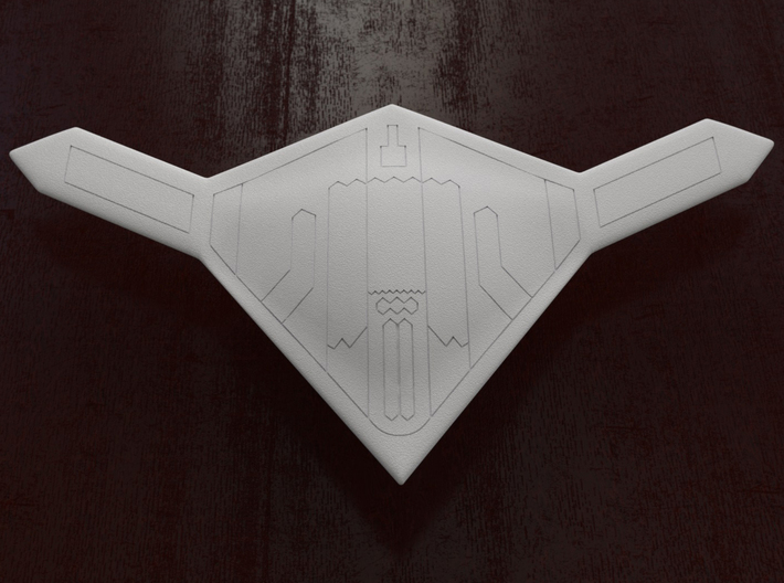 X-47B ucav (scale 1/72) 3d printed belly