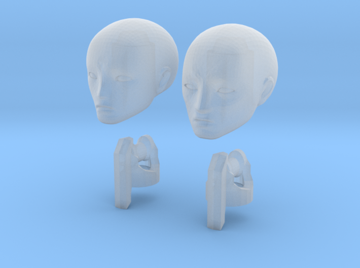 1/20 scale ALPHA EGO BJD, Male extra heads 3d printed
