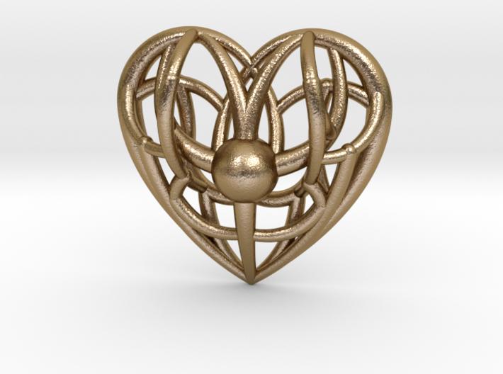 Awakened Heart Pendant 3d printed