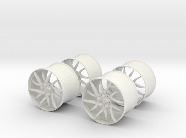 18x12 BBS Wheel Set #1  1/25 Scale 3d printed