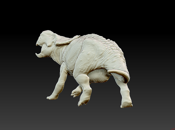 Evading Pachyrhinosaurus canadensis - 1/72 3d printed Zbrush render of the model