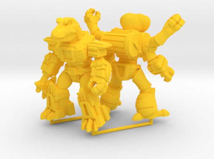 MiniCreatures: Atomic Allosaur Vs Fetid Fly 3d printed