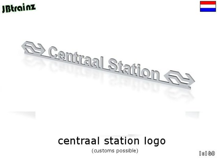 Amsterdam Central Station logo (n-scale) 3d printed