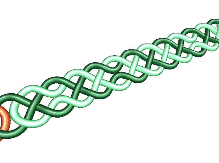 Celtic Ring - 16mm ⌀ 3d printed Unrolled Celtic Knot made from 4 threads as seen here.