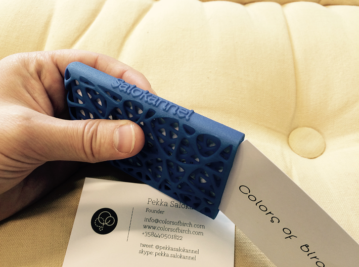 Business card case -Network 3d printed logo on the side