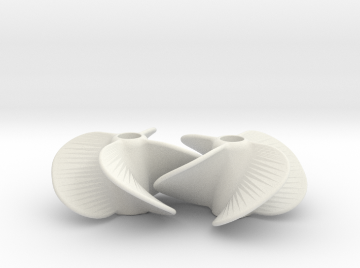 Boat Propellor 5 Studs 3d printed
