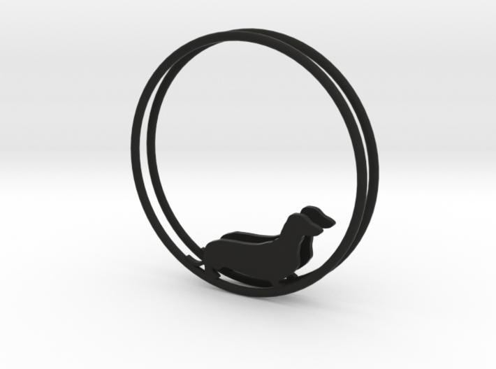 Dachshund Dog Hoop Earrings 40mm 3d printed