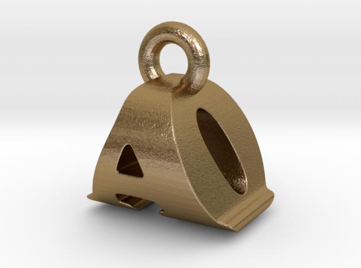 3D Monogram Pendant - AOF1 3d printed