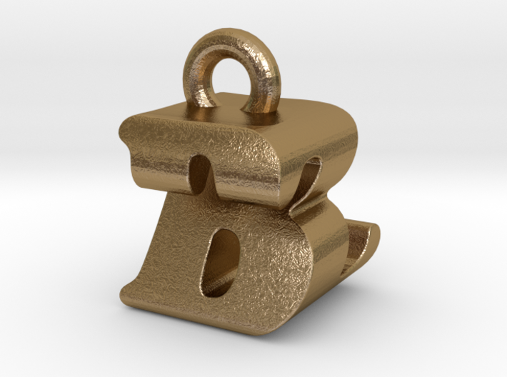 3D Monogram Pendant - BZF1 3d printed