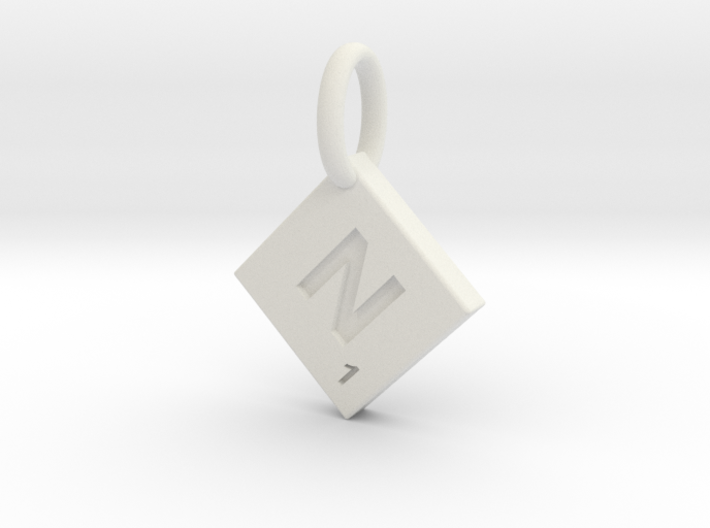 SCRABBLE TILE PENDANT N 3d printed