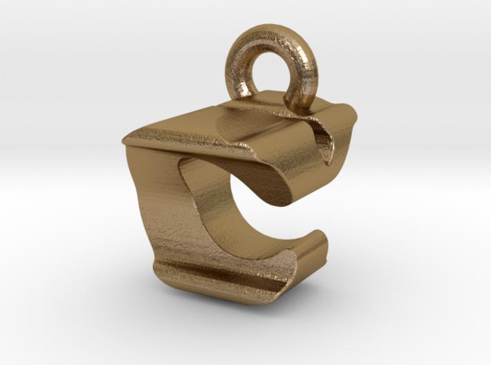 3D Monogram Pendant - CYF1 3d printed