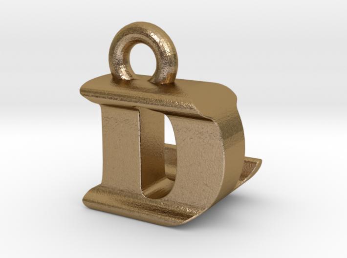 3D Monogram Pendant - DLF1 3d printed