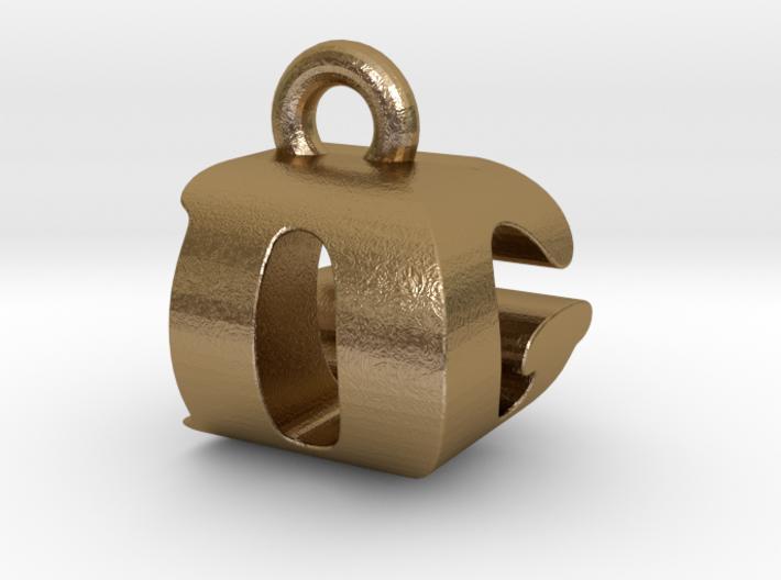 3D Monogram Pendant - DGF1 3d printed