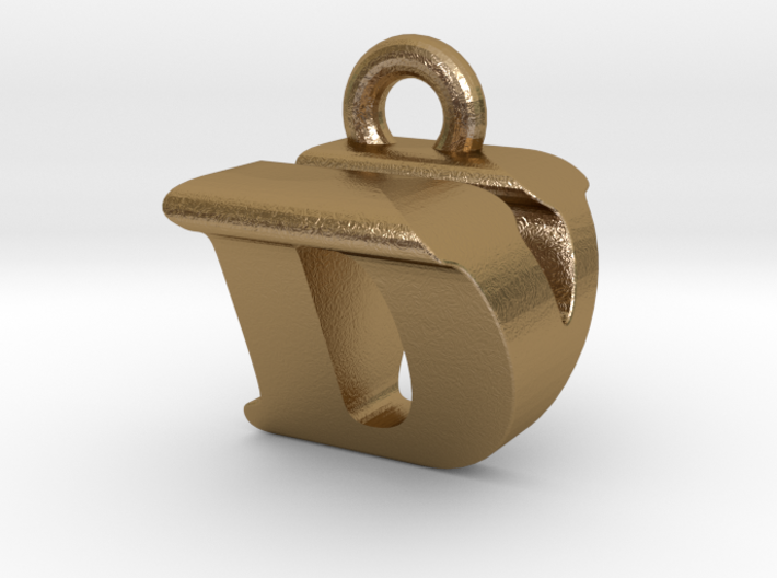 3D Monogram Pendant - DVF1 3d printed